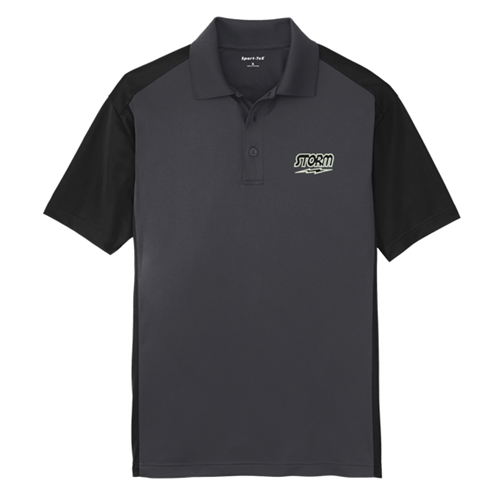 Storm Colorblock Polo Black