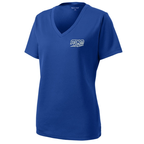 Storm Ladies Racermesh V-Neck Royal
